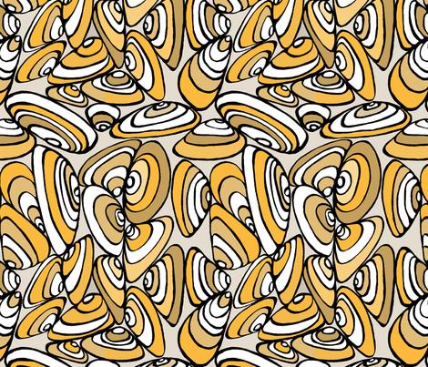 Pipis 6 70's orange fabric by pookeek on Spoonflower - custom fabric