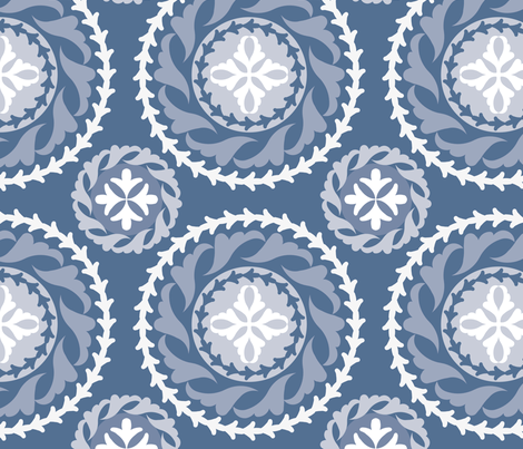 Blue Moon fabric by jeanherrondesign on Spoonflower - custom fabric