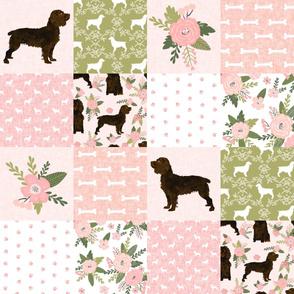 boykin spaniel pet quilt d  dog nursery cheater quilt wholecloth