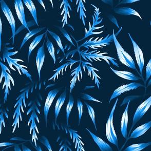 Brooklyn Forest - Blue Monochrome