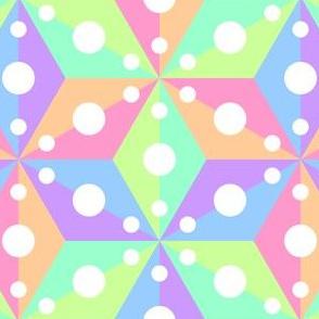 07381136 : SC3C spotty : pastel rainbow