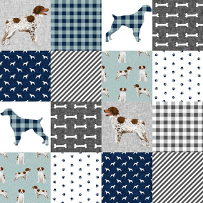 brittany spaniel pet quilt b  dog nursery cheater quilt wholecloth