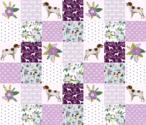 brittany spaniel pet quilt c dog nursery cheater quilt wholecloth fabric by petfriendly on Spoonflower - custom fabric