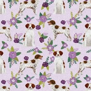 brittany spaniel pet quilt c dog nursery coordinate floral