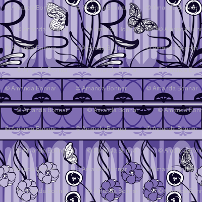 Art Nouveau Monochrome in Lavender