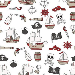 mixed pirates quilt cute coordinate nursery pirate theme lite