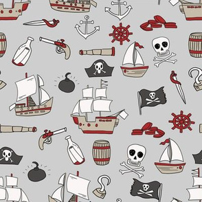 mixed pirates quilt cute coordinate nursery pirate theme grey