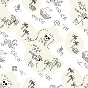 treasure map pirates quilt cute coordinate nursery pirate theme