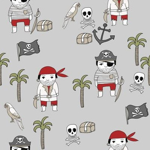 pirates quilt cute coordinate nursery pirate theme grey