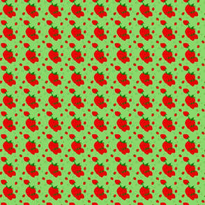 Strawberry Social Triple Berries on Bright Green