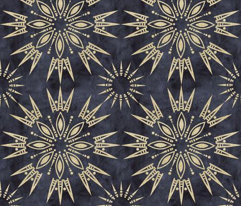 Mila mandala grey sparkle fabric by schatzibrown on Spoonflower - custom fabric