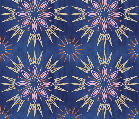 Mila mandala Indigo fabric by schatzibrown on Spoonflower - custom fabric