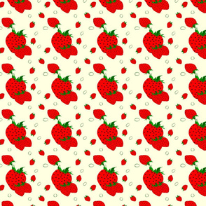 Strawberry Social Triple Berries on Pale Yellow