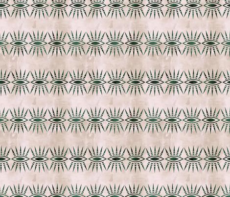 Mila Stripe cream pine horizontal fabric by schatzibrown on Spoonflower - custom fabric