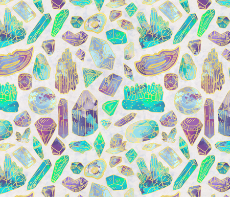 Gems fabric by brittemily on Spoonflower - custom fabric