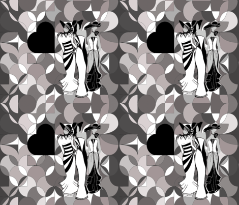 blackheartladies fabric by teal_feather on Spoonflower - custom fabric