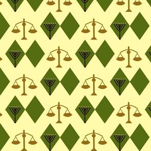 Tribe of Levi green argyle