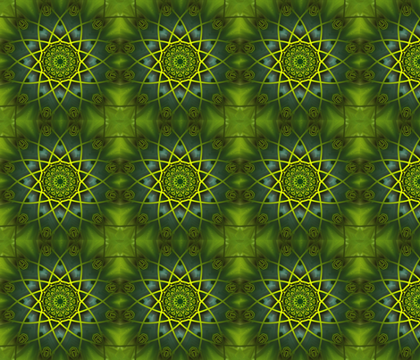 Green Oasis fabric by carlacryptic on Spoonflower - custom fabric