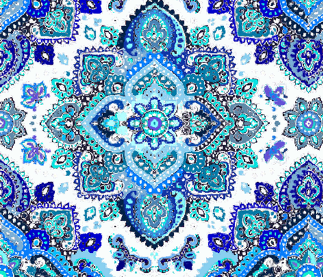 Blue Hued Henna  fabric by jatowle on Spoonflower - custom fabric