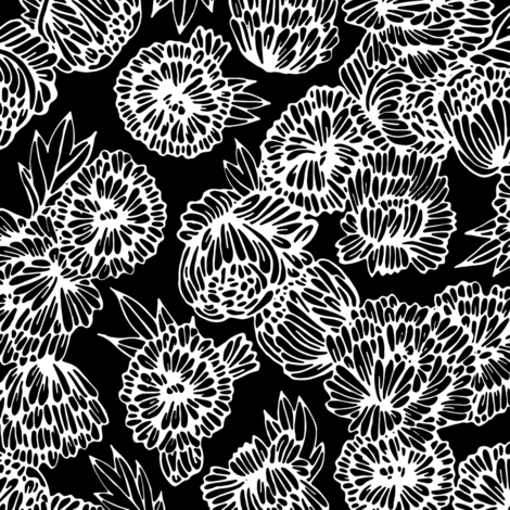 Rpeonies Black And White Shop Preview