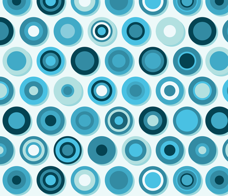 Concentric blues fabric by quirkymundo on Spoonflower - custom fabric