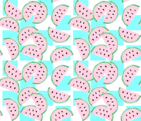 Watercolor melon-ed fabric by katawampus on Spoonflower - custom fabric