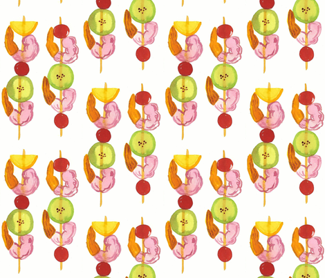 shrimp on the barbie fabric by annelise_anne on Spoonflower - custom fabric