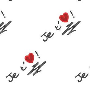 Je t'aime coeur - I love you heart