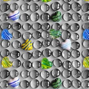Balls & hearts monochrome 1 - Billes & coeurs monochrome 1