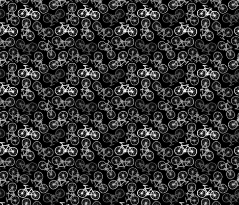 Cycling in Monochrome fabric by thewellingtonboot on Spoonflower - custom fabric