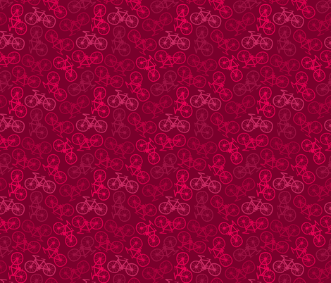 Cycling in Pink fabric by thewellingtonboot on Spoonflower - custom fabric