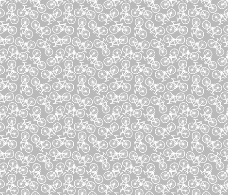 Bicycles in Grey fabric by thewellingtonboot on Spoonflower - custom fabric