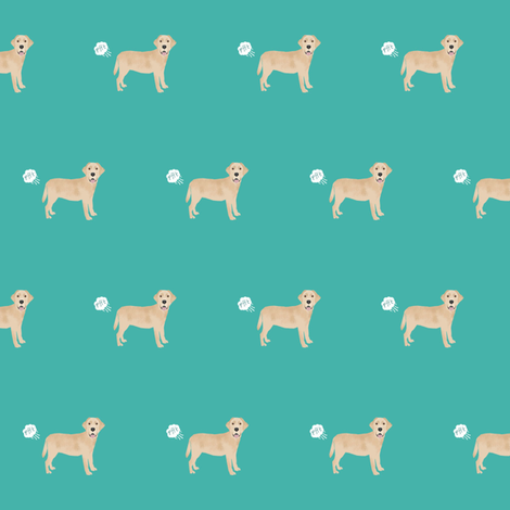 yellow lab funny dog fart dog breed fabric teal fabric by petfriendly on Spoonflower - custom fabric