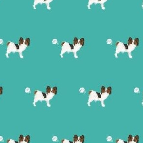 papillon funny dog fart dog breed fabric teal