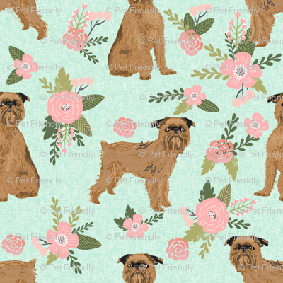 brussels griffon pet quilt d dog breed nursery coordinate floral