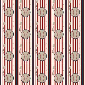baseball all star VERTICAL  7 - red stripes