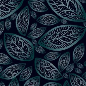 Dark gradient foliage