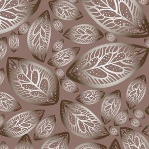 Beige gradient elegant foliage
