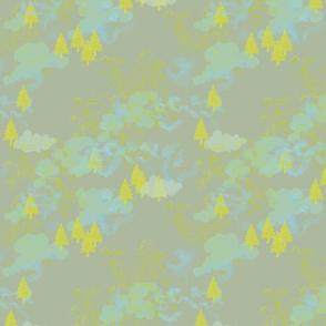 nuage motif 2 II fond gris