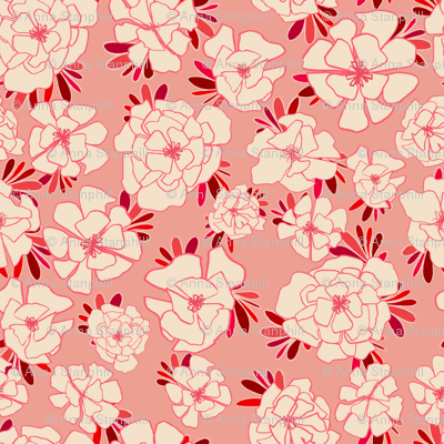 Small Monotone Florals
