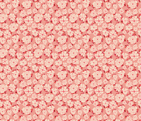 Small Monotone Florals fabric by annastanphill on Spoonflower - custom fabric