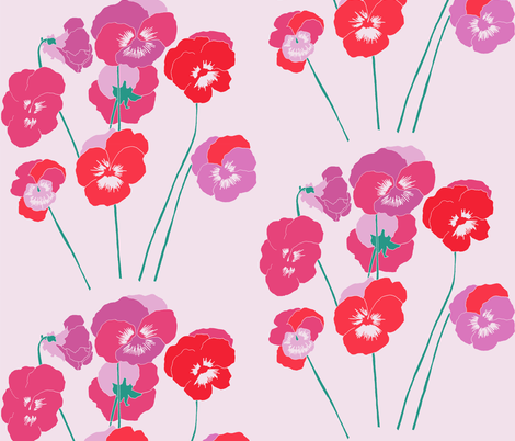pansies  fabric by claireybean on Spoonflower - custom fabric