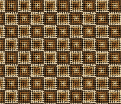 Go Home, Graph Paper, You're Drunk - Brown fabric by antieuclid on Spoonflower - custom fabric