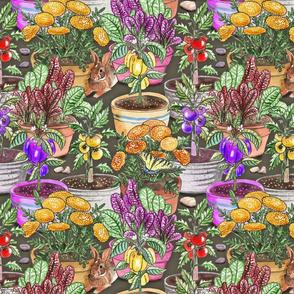 resting rabbit watercolor 12x12