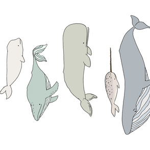 Whale Chart Tea Towel