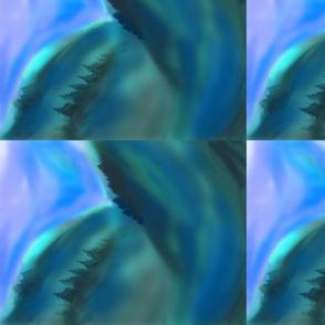 Misty Mountains blue by jrr Firs Star Art