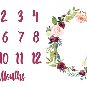 Miletones Months Blanket Paprika Wreath 8