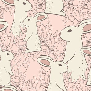 Spring Bunny & Carrots