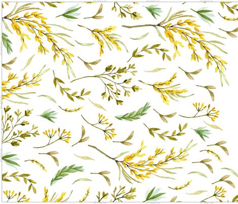 Mountainside Meadows Cascading Tea Towel Wildflower Cut and Sew fabric by deniseanne on Spoonflower - custom fabric