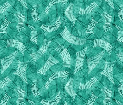 block-chain ledger teal aqua fabric by wren_leyland on Spoonflower - custom fabric